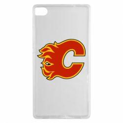 Чехол для Huawei P8 Calgary Flames - FatLine