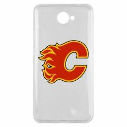 Чехол для Huawei Y7 2017 Calgary Flames - FatLine