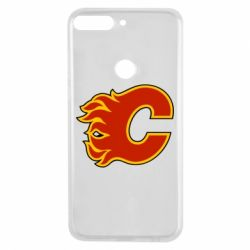 Чехол для Huawei Y7 Prime 2018 Calgary Flames - FatLine