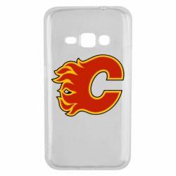 Чехол для Samsung J1 2016 Calgary Flames - FatLine