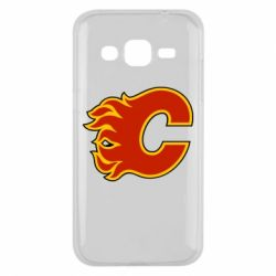 Чехол для Samsung J2 2015 Calgary Flames - FatLine