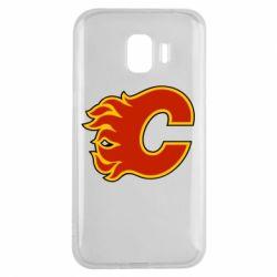 Чехол для Samsung J2 2018 Calgary Flames - FatLine