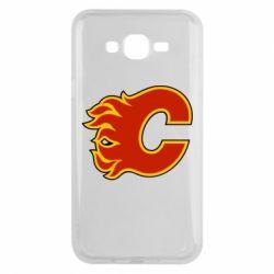 Чехол для Samsung J7 2015 Calgary Flames - FatLine