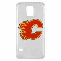 Чехол для Samsung S5 Calgary Flames - FatLine