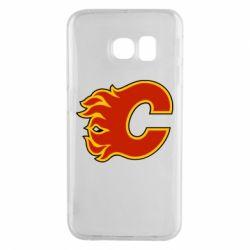 Чехол для Samsung S6 EDGE Calgary Flames - FatLine