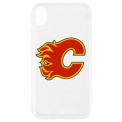 Чехол для iPhone XR Calgary Flames - FatLine