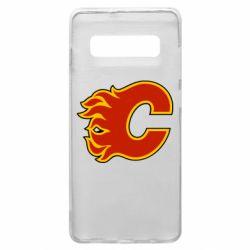 Чехол для Samsung S10+ Calgary Flames