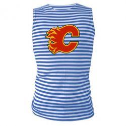 Майка-тельняшка Calgary Flames