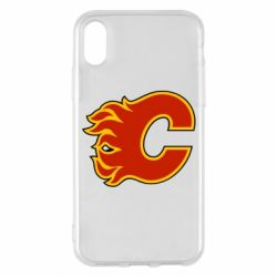 Чехол для iPhone X Calgary Flames - FatLine