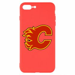 Чехол для iPhone 8 Plus Calgary Flames - FatLine