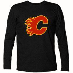 Футболка с длинным рукавом Calgary Flames - FatLine