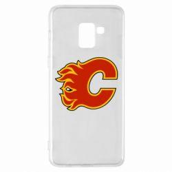Чехол для Samsung A8+ 2018 Calgary Flames - FatLine
