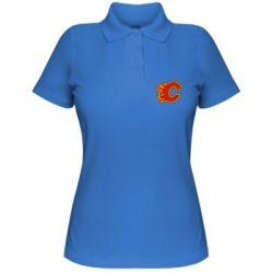 Женская футболка поло Calgary Flames - FatLine