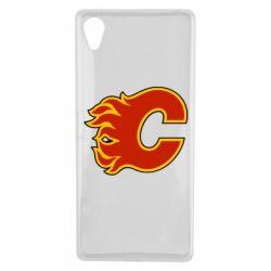 Чехол для Sony Xperia X Calgary Flames - FatLine