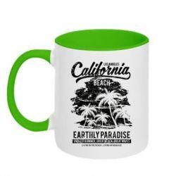 Кружка двоколірна 320ml California Beach