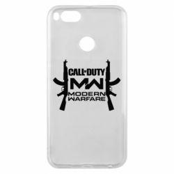 Чехол для Xiaomi Mi A1 Call of debt MW logo and Kalashnikov
