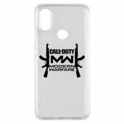 Чехол для Xiaomi Mi A2 Call of debt MW logo and Kalashnikov