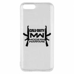 Чехол для Xiaomi Mi6 Call of debt MW logo and Kalashnikov