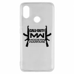 Чехол для Xiaomi Mi8 Call of debt MW logo and Kalashnikov
