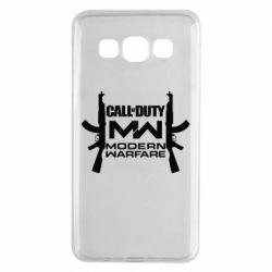Чехол для Samsung A3 2015 Call of debt MW logo and Kalashnikov