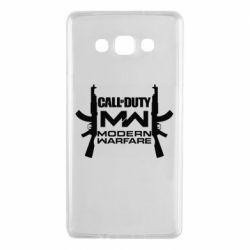 Чехол для Samsung A7 2015 Call of debt MW logo and Kalashnikov