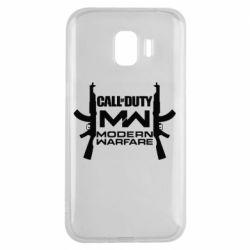 Чехол для Samsung J2 2018 Call of debt MW logo and Kalashnikov