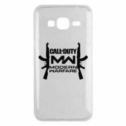 Чехол для Samsung J3 2016 Call of debt MW logo and Kalashnikov