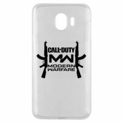 Чехол для Samsung J4 Call of debt MW logo and Kalashnikov