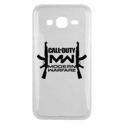 Чехол для Samsung J5 2015 Call of debt MW logo and Kalashnikov