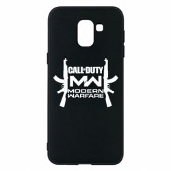Чехол для Samsung J6 Call of debt MW logo and Kalashnikov