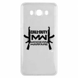 Чехол для Samsung J7 2016 Call of debt MW logo and Kalashnikov