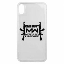 Чехол для iPhone Xs Max Call of debt MW logo and Kalashnikov