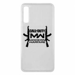 Чехол для Samsung A7 2018 Call of debt MW logo and Kalashnikov