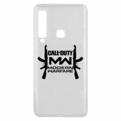 Чехол для Samsung A9 2018 Call of debt MW logo and Kalashnikov