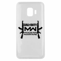 Чехол для Samsung J2 Core Call of debt MW logo and Kalashnikov
