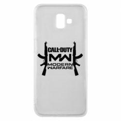 Чехол для Samsung J6 Plus 2018 Call of debt MW logo and Kalashnikov