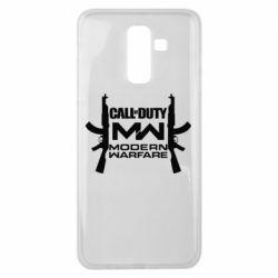 Чехол для Samsung J8 2018 Call of debt MW logo and Kalashnikov