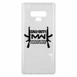 Чехол для Samsung Note 9 Call of debt MW logo and Kalashnikov
