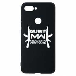 Чехол для Xiaomi Mi8 Lite Call of debt MW logo and Kalashnikov