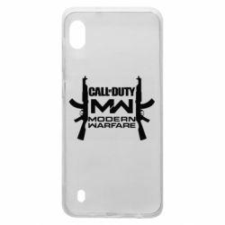 Чехол для Samsung A10 Call of debt MW logo and Kalashnikov