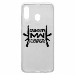 Чехол для Samsung A30 Call of debt MW logo and Kalashnikov