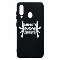 Чехол для Samsung A60 Call of debt MW logo and Kalashnikov