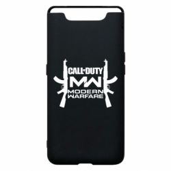 Чехол для Samsung A80 Call of debt MW logo and Kalashnikov