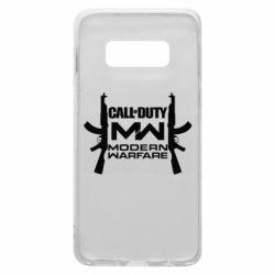 Чехол для Samsung S10e Call of debt MW logo and Kalashnikov