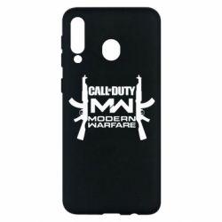 Чехол для Samsung M30 Call of debt MW logo and Kalashnikov