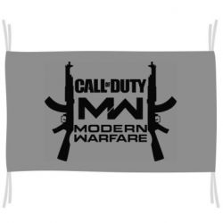 Флаг Call of debt MW logo and Kalashnikov