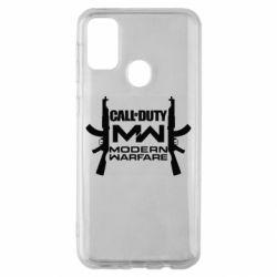 Чехол для Samsung M30s Call of debt MW logo and Kalashnikov