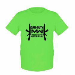 Детская футболка Call of debt MW logo and Kalashnikov