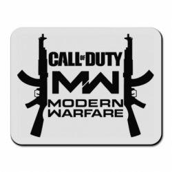 Коврик для мыши Call of debt MW logo and Kalashnikov