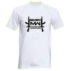 Мужская спортивная футболка Call of debt MW logo and Kalashnikov